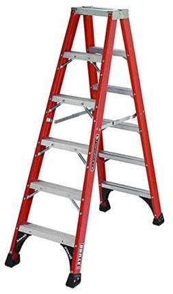 FM1500 Series Fiberglass Twin Front Ladders - 6' fiberglass