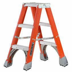 Louisville Ladder FM1503 Fiberglass Twin Front Ladder, 3-Fee