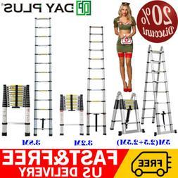 Folding 12.5FT Multi Purpose Telescopic Extension Ladder Alu