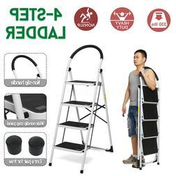 Folding 4/3/2 Steps Ladder Step Stool 330 lbs Capacity Load