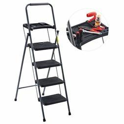Finether 59.6'' Heavy Duty Steel Folding 4-Step Ladder w