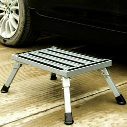 Folding Aluminum Platform Step Stool RV Trailer Camper Worki