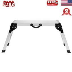 Folding Aluminum Work Platform Drywall Step Up Ladder Bench