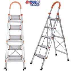 Folding Anti-Slip 5/4/3Step Ladder Steel Platform Step Alumi