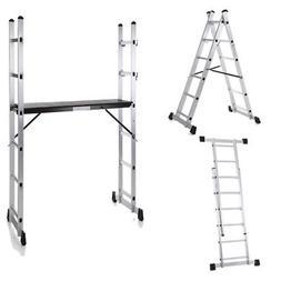 Folding Ladder Aluminum Multi Purpose Extension Ladders Buil