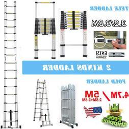 Folding Ladder Aluminum Multi Purpose Extension  Stairs Ladd