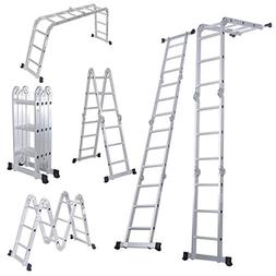 Luisladders Folding Ladder Multi Purpose Aluminium Extension 7