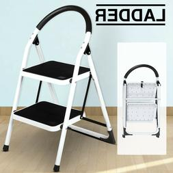 Folding Non-slip 2 Step Ladder Portable Safety Platform Stoo