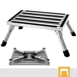 folding rv step stool aluminum ladder anti