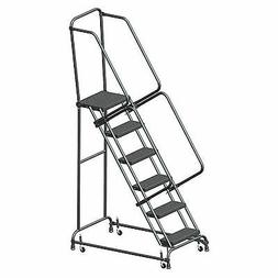 """Ballymore FSH618P Perforated 16""""W 6 Step Steel Rolling Ladde"""
