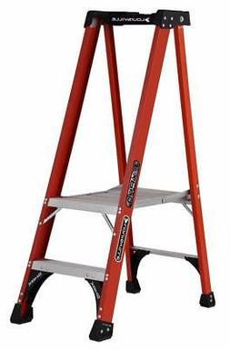 Louisville Ladder FXP1802HD Fiberglass Pro Platform Ladder,