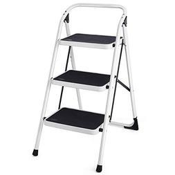 Giantex Hd 3 Step Ladder Platform Lightweight Folding Stool
