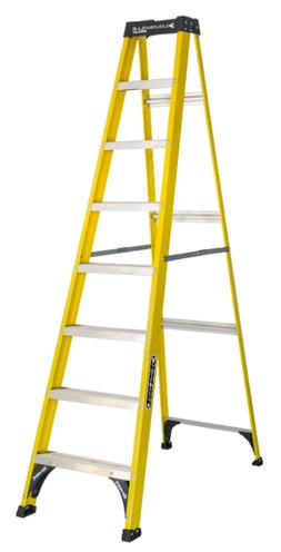 Heavy Duty 8' Fiberglass Step Ladder Electrical Jobsite Indo
