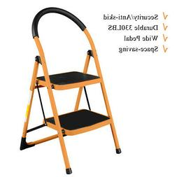 Heavy Duty Non-slip 2 Step Ladder Folding Steel Step Stool 3