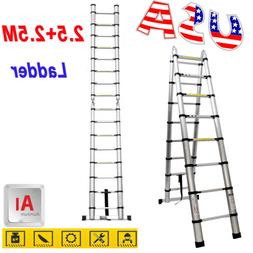 Heavy Duty Telescopic Extension Foldable Ladder Aluminum Mul