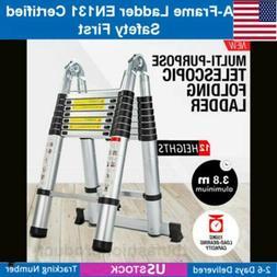 Finether Home 3.8M Heavy Duty Multi-Purpose Aluminum Telesco