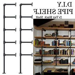 Industrial Retro Wall Mount iron Pipe Shelf,DIY Open Bookshe