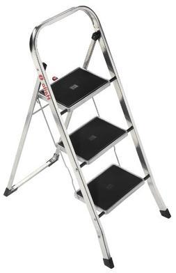Hailo LLC K30 3-Step Aluminum Step Stool with 300 lb. Load C