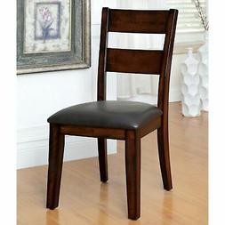 Katrine Modern Dark Cherry Ladder Back Dining Chair  by FOA