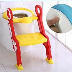 Kids Potty Training Seat w/ Step Stool Ladder for Child Todd