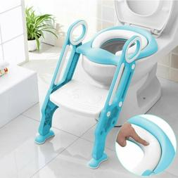 Kids Potty Training Seat with Step Stool Ladder Toilet Chair