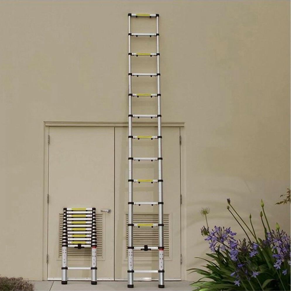 10.5FT Aluminum Telescopic Ladder Extension Loft Tall