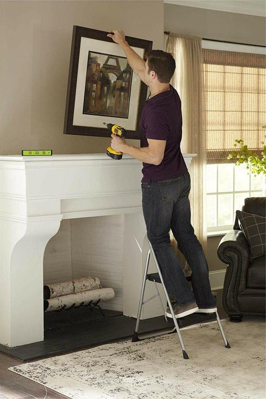 Cosco 11308PBL1E Big Folding Stool with Rubber Hand Grip,