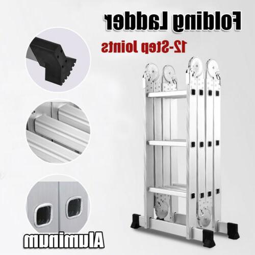 12.5 ft Aluminum Multi Purpose Extension Ladders Building