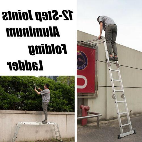12.5 Folding Ladder Aluminum Ladders Building