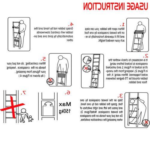 12.5FT Multi-Purpose Ladder Extension Steps EN131
