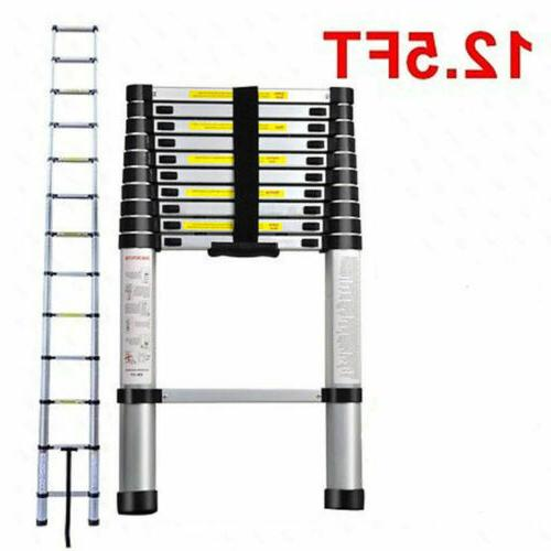12.5FT Multi-Purpose Telescopic Ladder Extension Tall EN131
