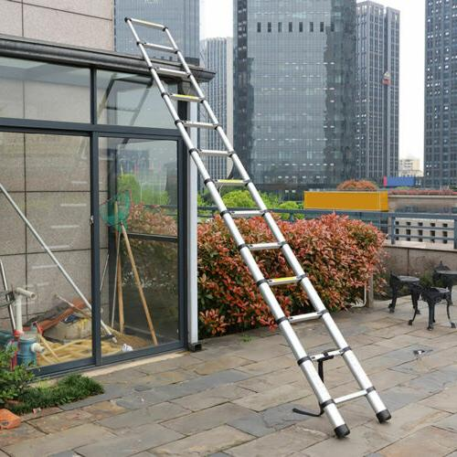 12.5FT Folding Aluminum Ladder Multi Purpose Extension Ladde