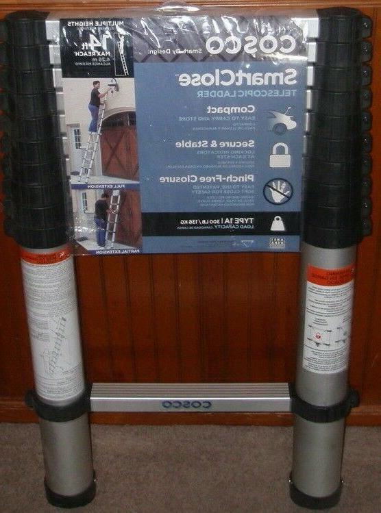 14 ft aluminum telescopic extension ladder type