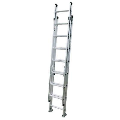 High Quality Aluminum Stretchable Ladder Black & Silver