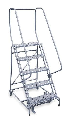 1505r2630a6e10b4w4c1p6 5 step rolling ladder perforated step