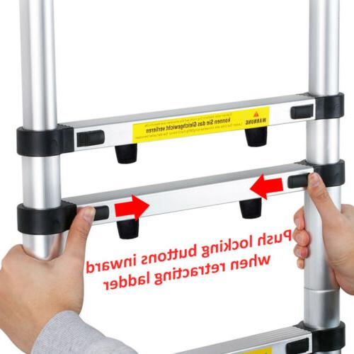 16.4 ft 5M Aluminum Telescopic/Telescoping Loft Extension Ladder