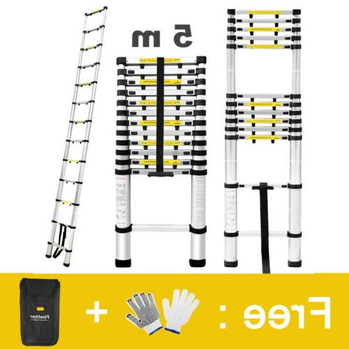 16.4FT Multi-purpose Telescopic Loft Ladder Aluminum Extensi