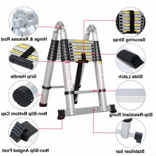 10.5-16.5FT Aluminium Extension Ladder Telescopic