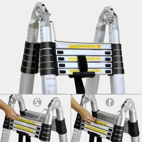 16.5Ft Ladder Telescoping Lightweight Portable Telescopic