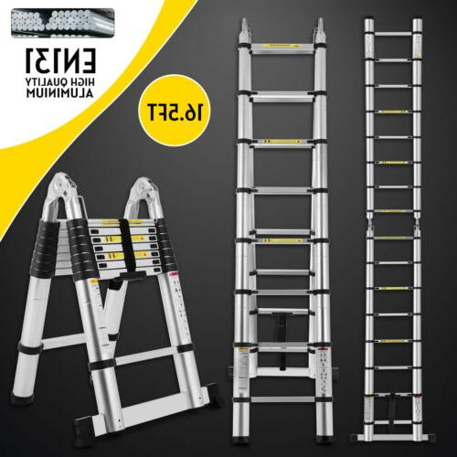16 5ft aluminium ladders telescoping multi purpose