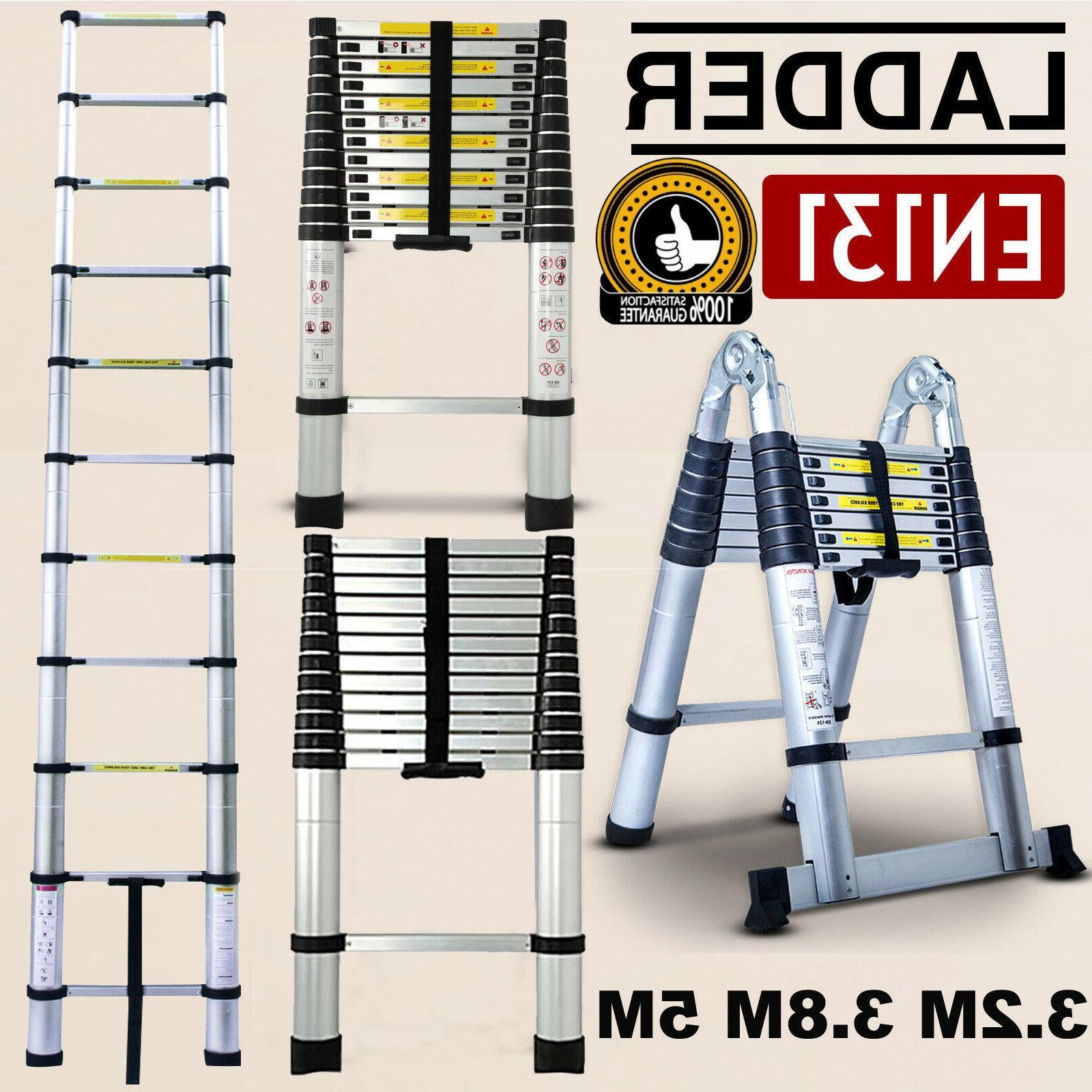 16 5ft aluminum multi purpose telescopic ladder