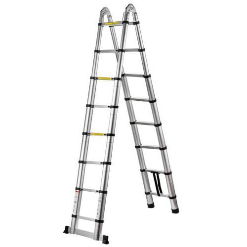 16.5Ft Aluminum Telescopic Extension Folding Ladder