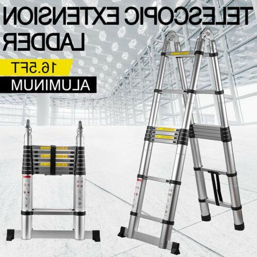 16 5ft aluminum telescopic extension folding step