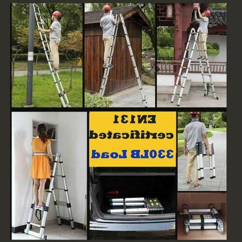16.5FT Telescoping Folding Ladder