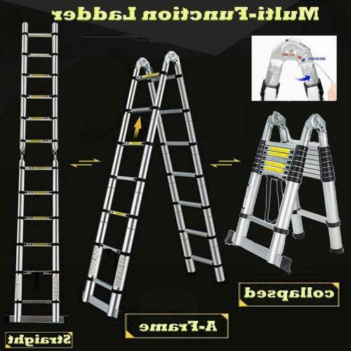 16.5FT Step Extension Telescoping Lightweight Folding Ladder