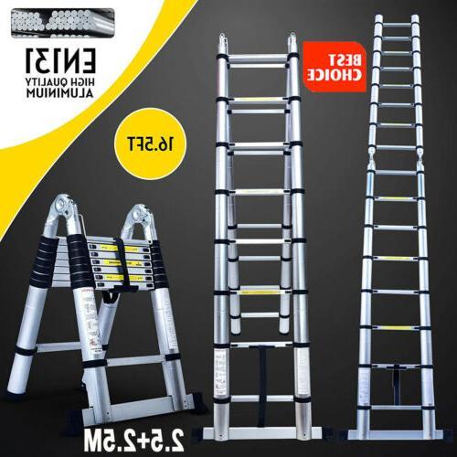 16 5ft step ladder extension telescoping lightweight