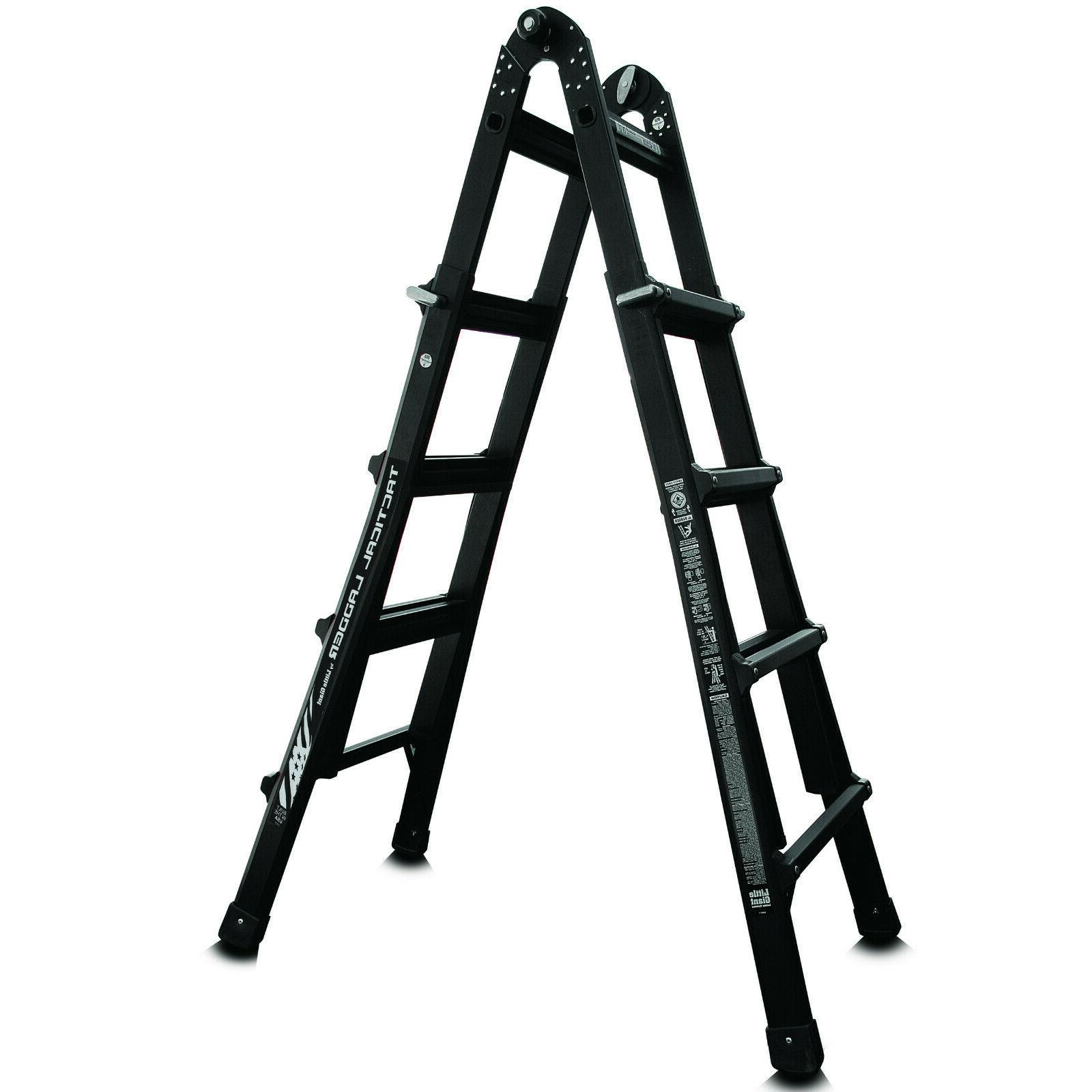 17 foot folding extension ladder extra heavy