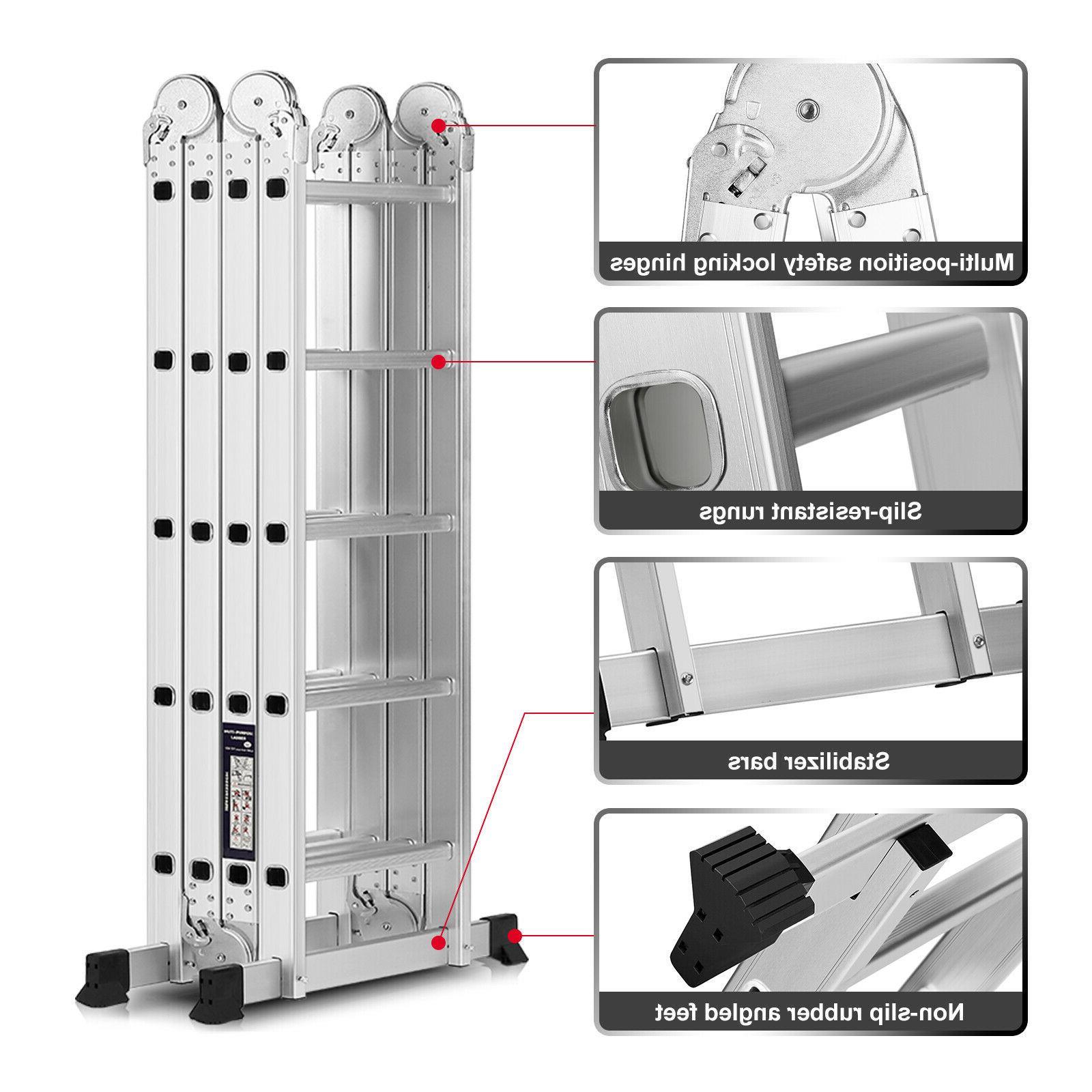 19.5FT Purpose Extension Folding Aluminum Step Multi
