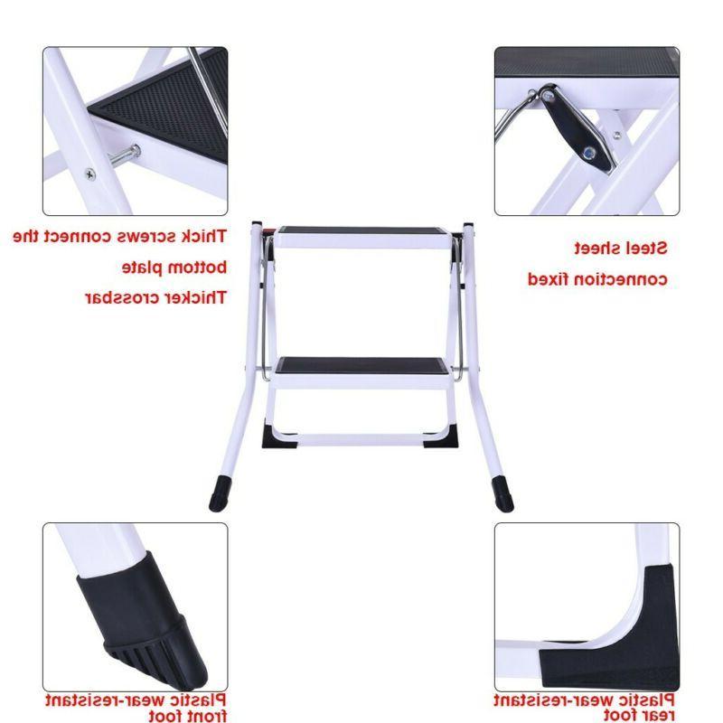 Portable Folding Step Stool Steel Ladder Pedal