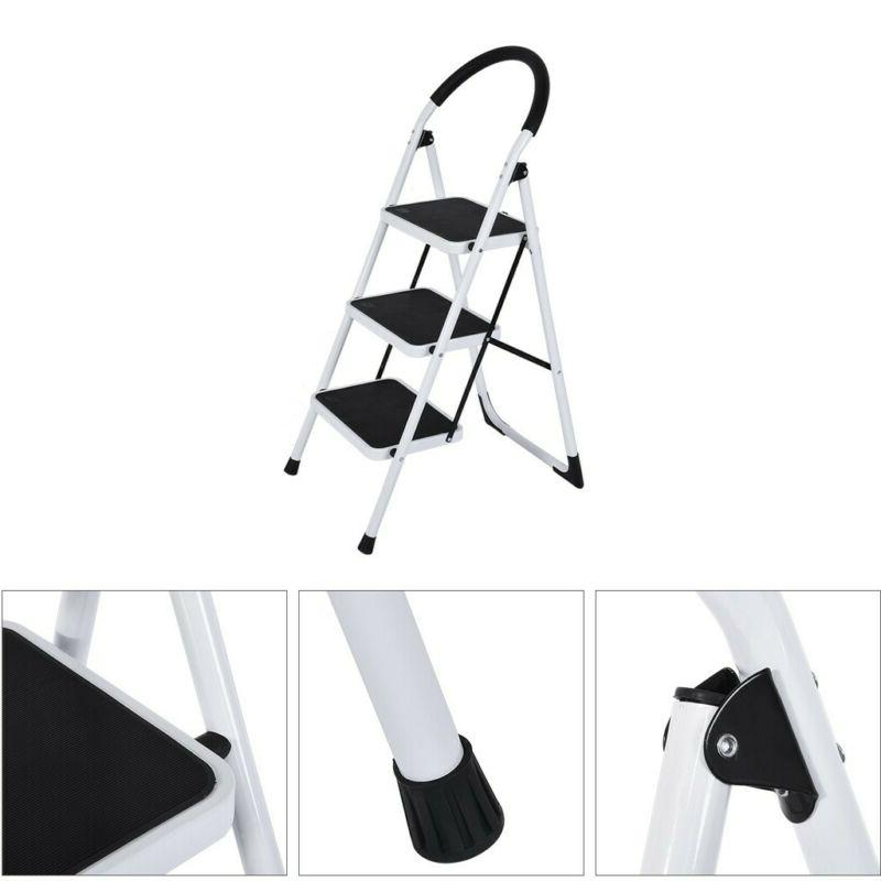 2/3 Ladder Steel Step Stool Heavy with 330Lbs Capaci
